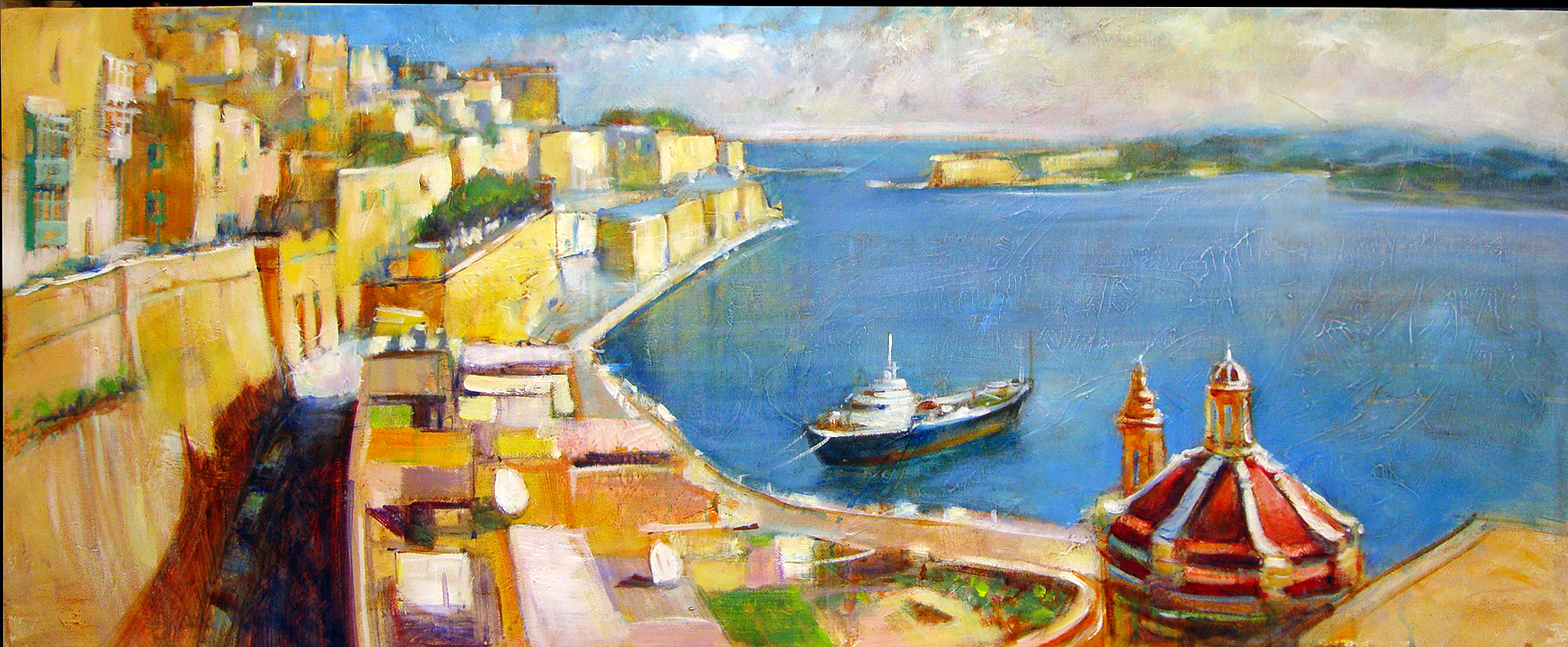 C.S.Lawrence paintings of Malta | Paint Malta